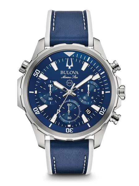 Bulova 96B287 Men's Marine Star 43mm Case Chronograph Watch