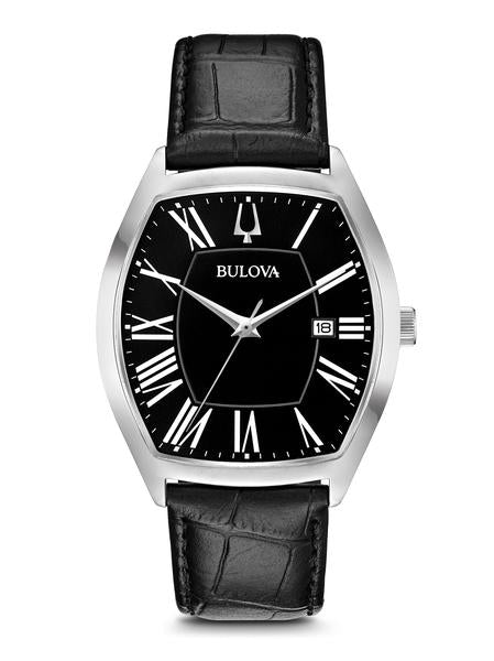 Bulova 96B290 Classic Black Leather Strap Ambassador Watch