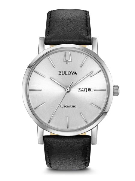 Bulova 96C130 Men's Classic Automatic Leather Strap Watch