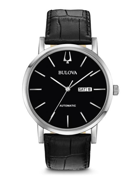 Bulova 96C131 Men's Classic Automatic Leather Strap Watch