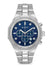 Bulova 96D138 Mens Diamond Blue Dial Stainless Steel Watch