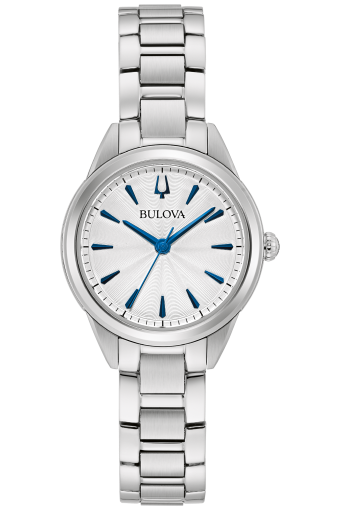 Bulova 96L285 Sutton 3-Hand Silver-Tone Stainless Steel 28mm Watch