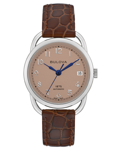 Bulova 96M154 Commodore Limited Edition Automatic Blush Dial 34mm Watch