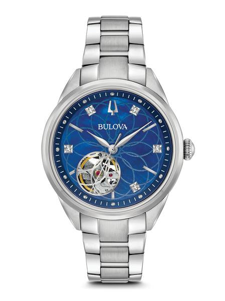 Bulova 96P191 Automatic Blue Dial Stainless Steel Watch