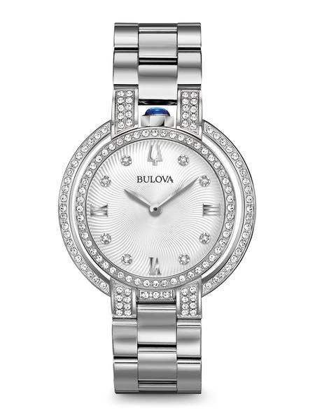 Bulova 96R220 Women's Rubaiyat Stainless Diamond 35mm Watch
