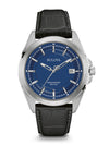 Bulova Men's 96B257 Men's Precisionist Black Leather Strap Blue Dial Watch