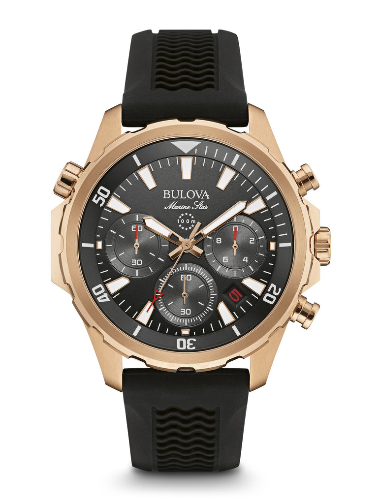 Bulova 97B153 Mens Marine Star Chronograph Rubber Strap Watch