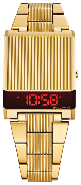 Bulova 97C110 Computron Gold-Tone Digital Retro Look Watch