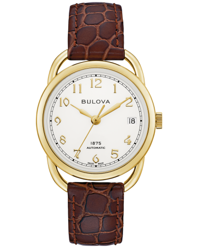 Bulova 97M117 Commodore Limited Edition Automatic Ivory Dial 34mm Watch