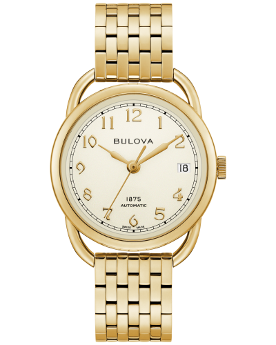 Bulova 97M118 Commodore Limited Edition Auto Gold Tone Stainless 34mm Watch