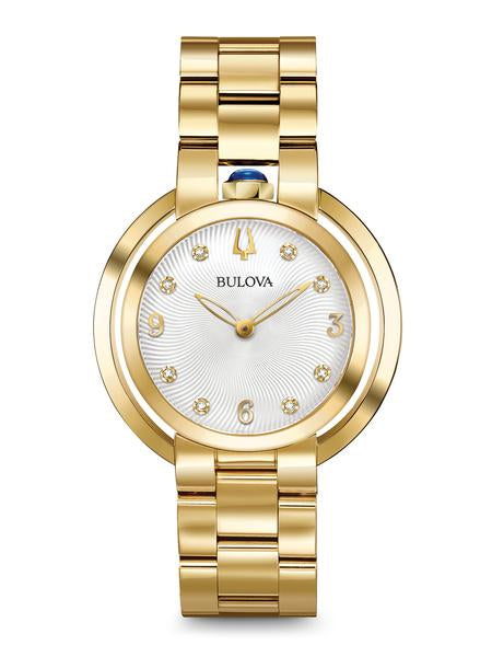 Bulova 97P125 Women's Rubaiyat Gold Tone Stainless Steel Watch