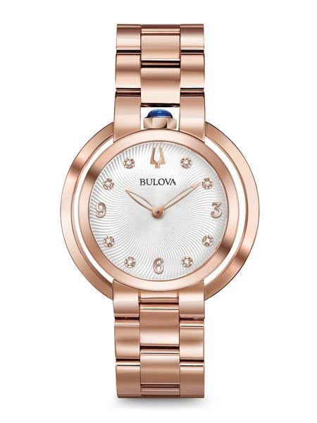 Bulova 97P130 Women's Rubaiyat Rose Gold Tone Watch