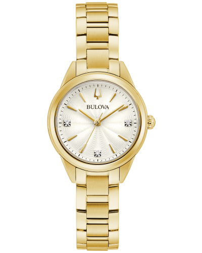 Bulova 97P150 Sutton 3-Hand Gold-Tone Stainless Steel 28mm Watch