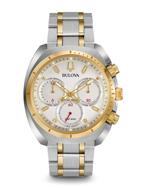 Bulova 98A157 Curv Stainless Steel Chronograph Watch