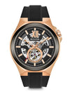 Bulova 98A177 Mens 46mm Automatic Skeleton Dial Rubber Watch