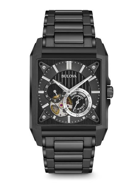 Bulova 98A180 Men's Automatic Black Stainless Steel Watch