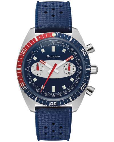 Bulova 98A253 Chronograph A 40.5mm Case Blue Surfboard Watch
