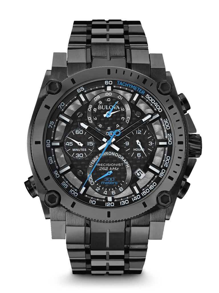 Bulova 98B229 Men's Precisionist Chronograph Black IP Stainless Steel Watch