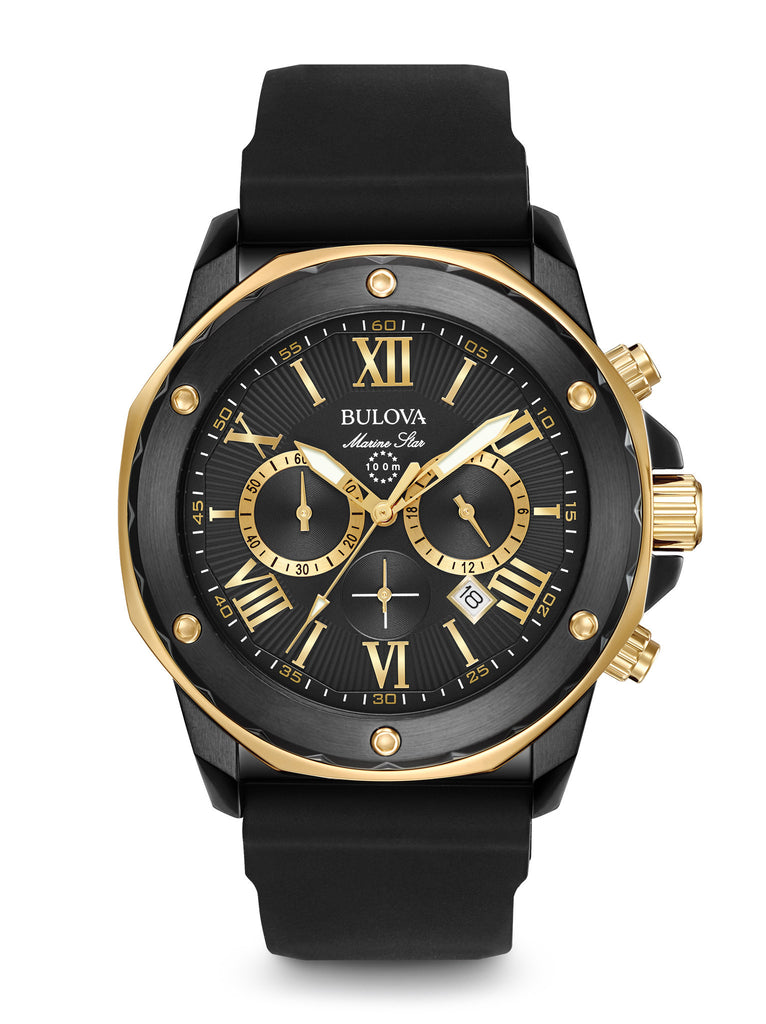 Bulova 98B278 Mens Marine Star Chronograph Black Dial Watch