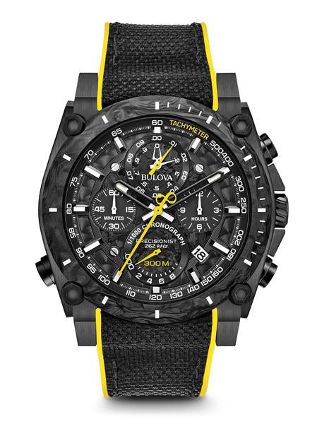Bulova 98B312 Men's Precisionist Chronograph Black Dial Watch