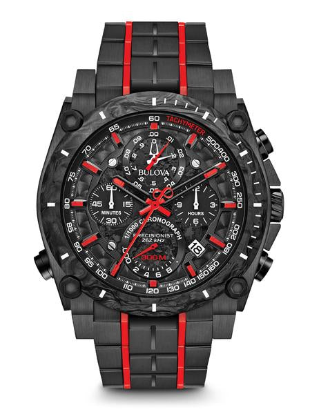 Bulova 98B313 Men's Precisionist Chronograph Black IP Watch