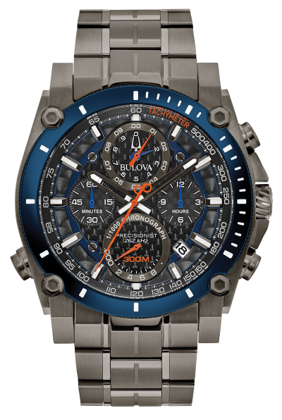 Bulova 98B343 Precisionist 46.5mm Chronograph Stainless Steel Watch