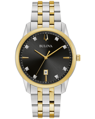 Bulova 98D165 Calendar 40mm Case Black dial Watch