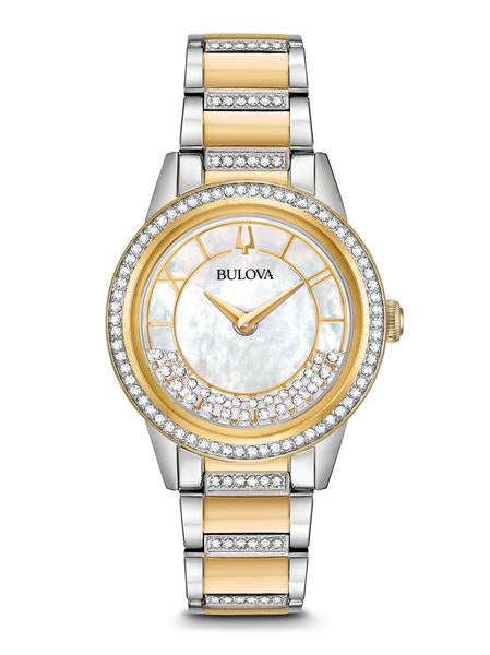Bulova 98L245 TurnStyle Two Tone Mother of Pearl Dial Watch