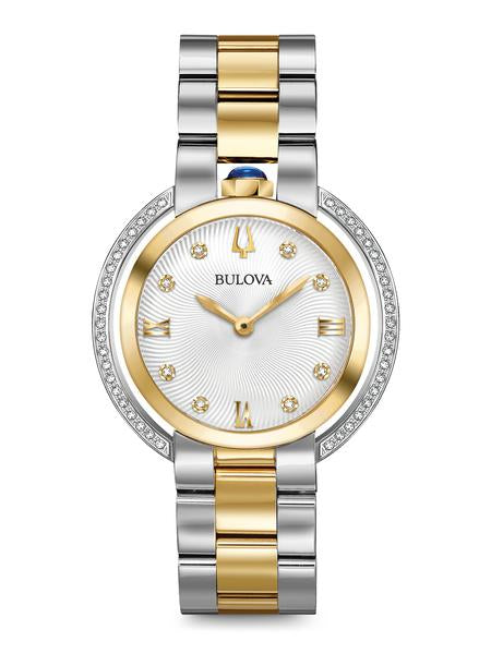 Bulova 98R246 Women's Rubaiyat Two-Tone Diamond 35mm Watch