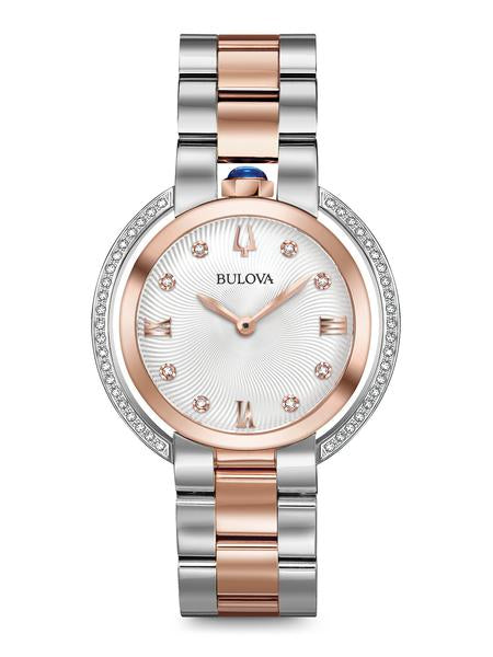 Bulova 98R247 Women's Rubaiyat Two-Tone Diamond 35mm Watch