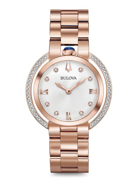 Bulova 98R248 Women's Rubaiyat Rose Gold-Tone Diamond Watch