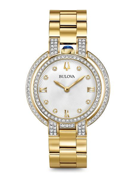 Bulova 98R249 Women's Rubaiyat Gold Tone Diamond 35mm Watch