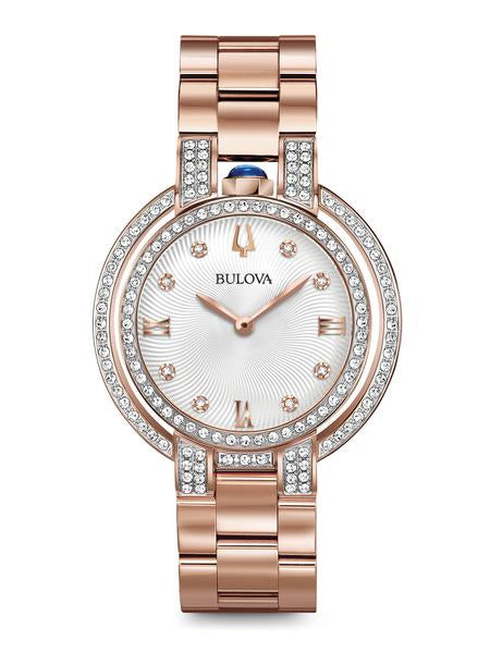 Bulova 98R250 Women's Rubaiyat Rose Tone Diamond 35mm Watch
