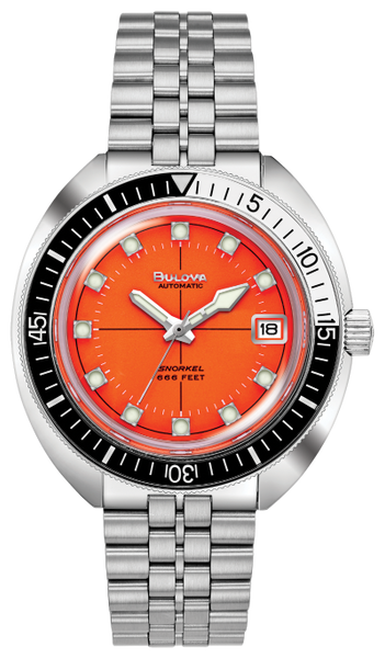 Bulova 98C131 Orange Dial Devil Diver LIMITED EDITION Automatic Stainless Steel Watch