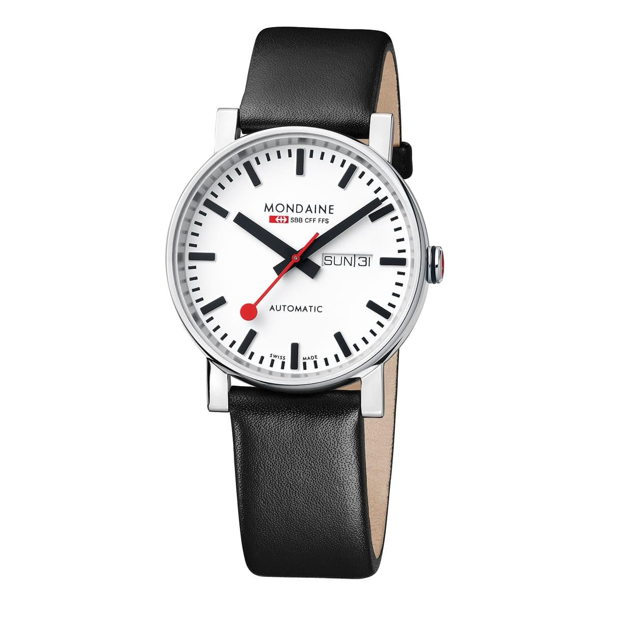 Mondaine A132.30348.11SBB Evo Automatic Leather Watch