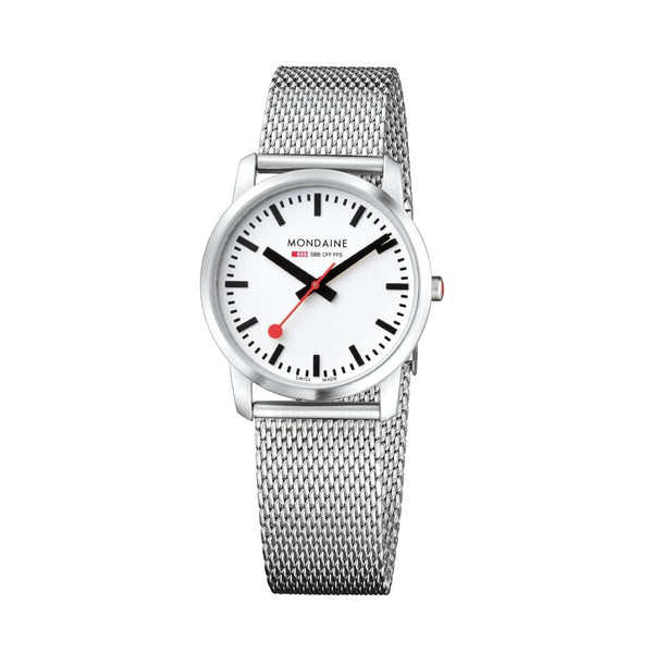 Mondaine A400.30351.16SBM Simply Elegant Mesh Stainless Steel Watch
