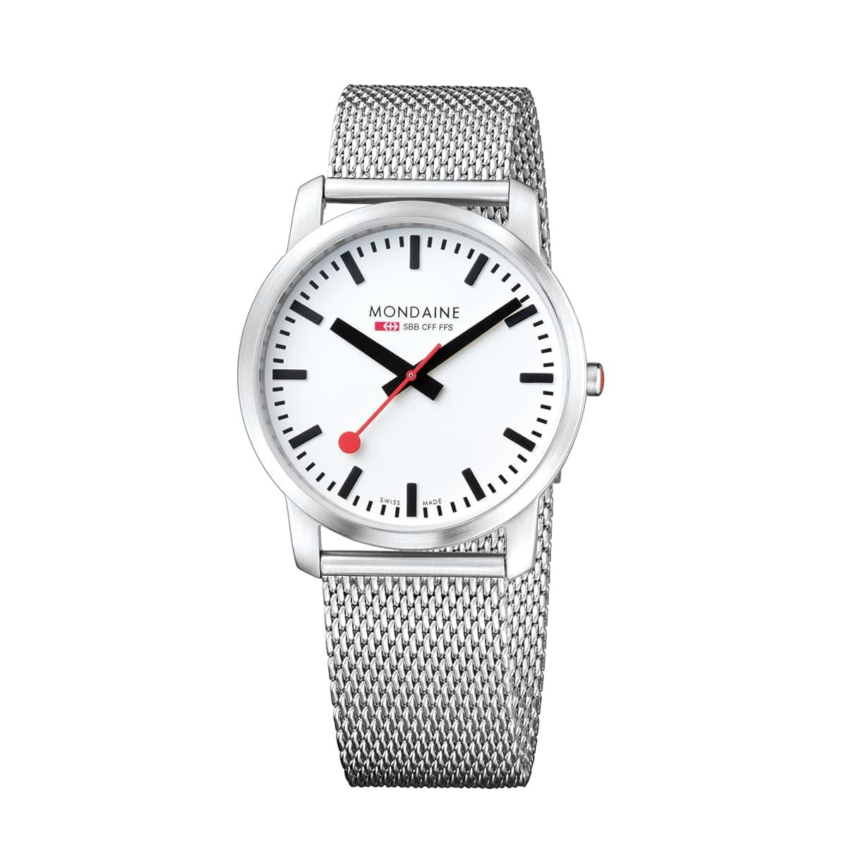 Mondaine A638.30350.16SBM Simply Elegant Mesh Stainless Steel Watch
