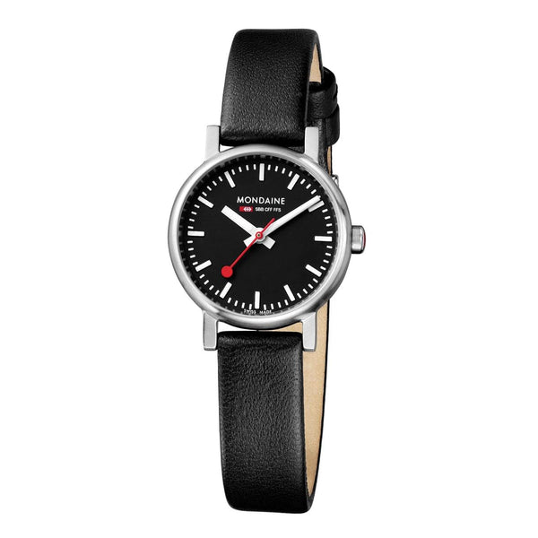 Mondaine A658.30301.14SBB Evo Petite Black Leather Watch