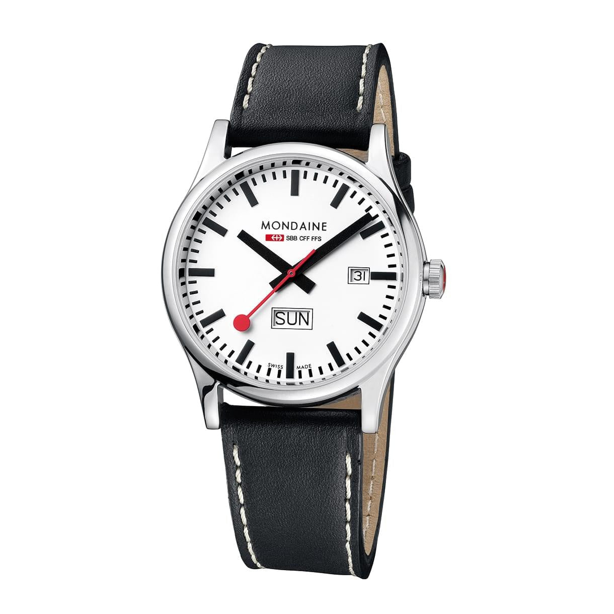Mondaine A667.30308.16SBB Sport Leather Strap Watch