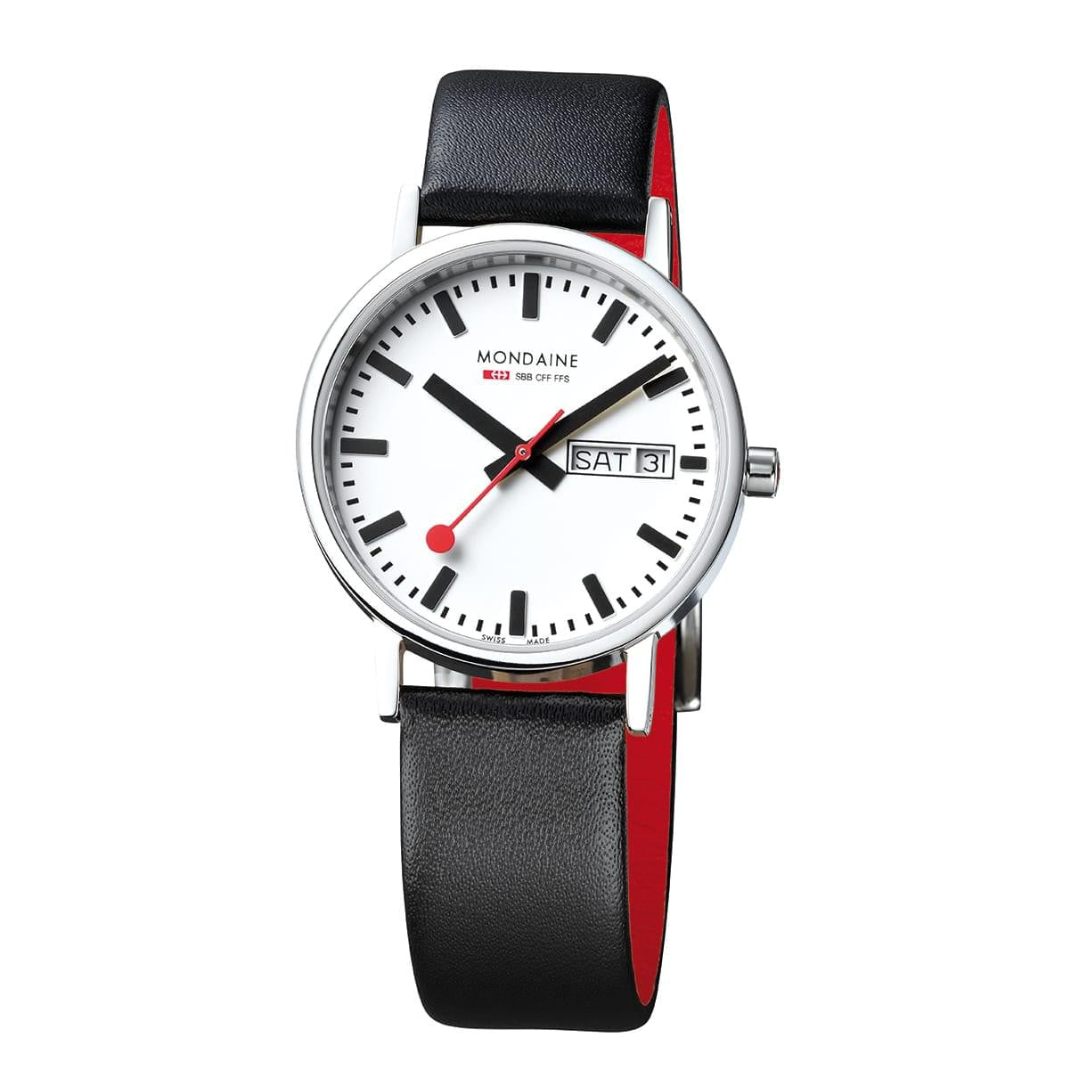 Mondaine A667.30314.11SBB Classic Leather Strap Watch
