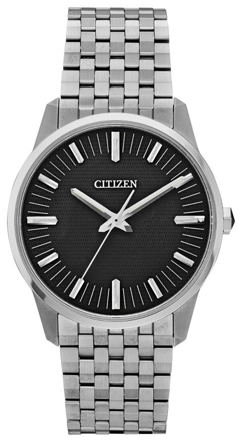 Citizen AQ6021-51E CALIBER 0100 38mm Black Dial Watch