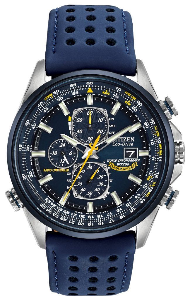 Citizen AT8020-03L Eco-Drive Blue Angels WORLD CHRONOGRAPH A-T Watch