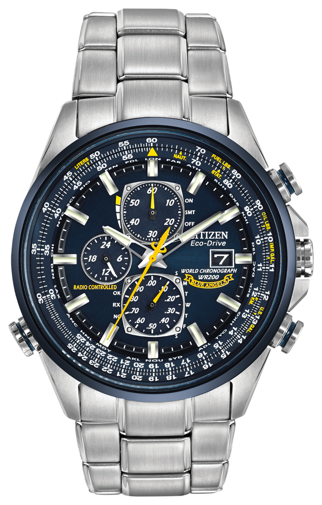 Citizen AT8020-54L Eco-Drive Blue Angels WORLD CHRONOGRAPH A-T Watch
