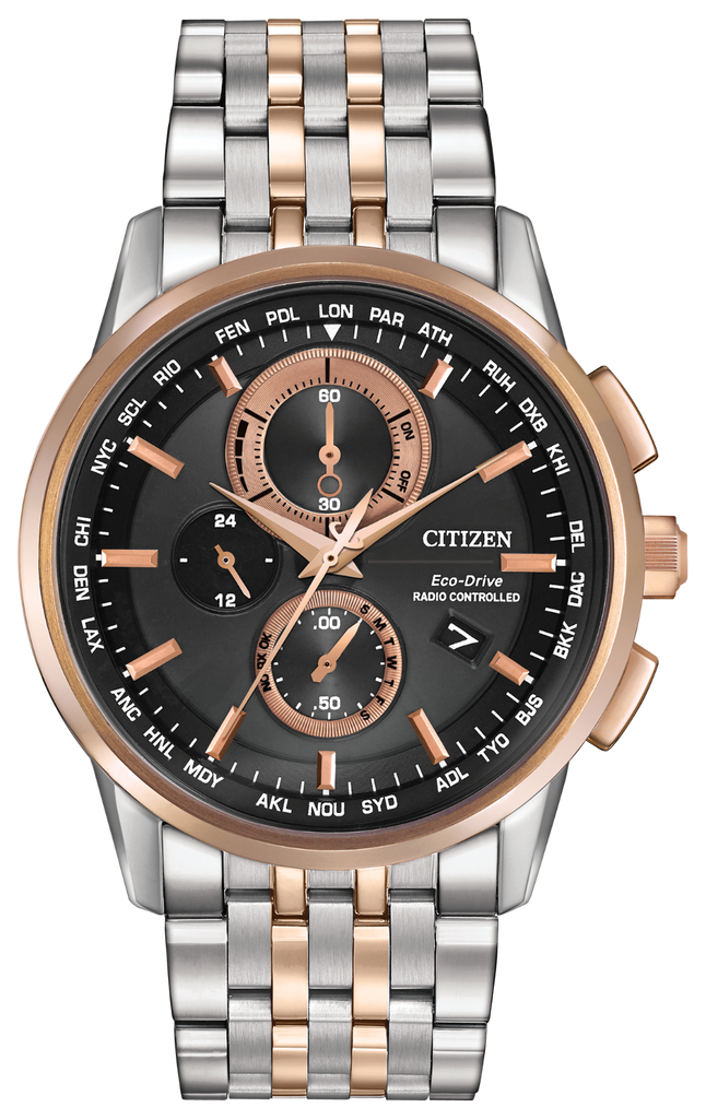 Citizen AT8116-57E Eco-Drive Two Tone WORLD CHRONOGRAPH A-T Watch