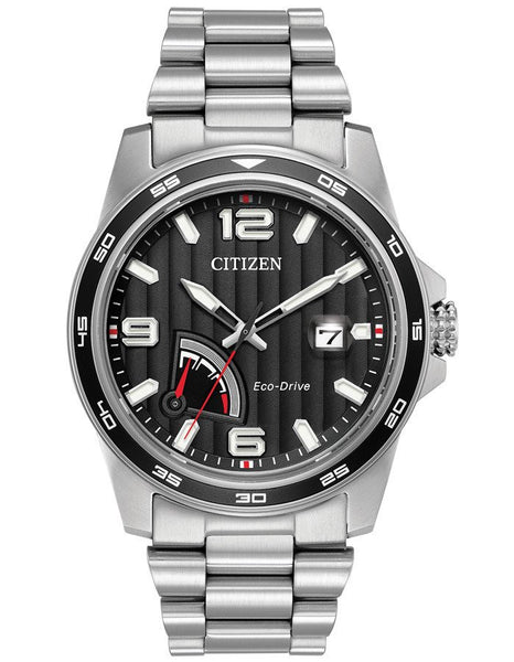 Citizen AW7030-57E Mens Black Dial Stainless Steel 41.5mm Watch