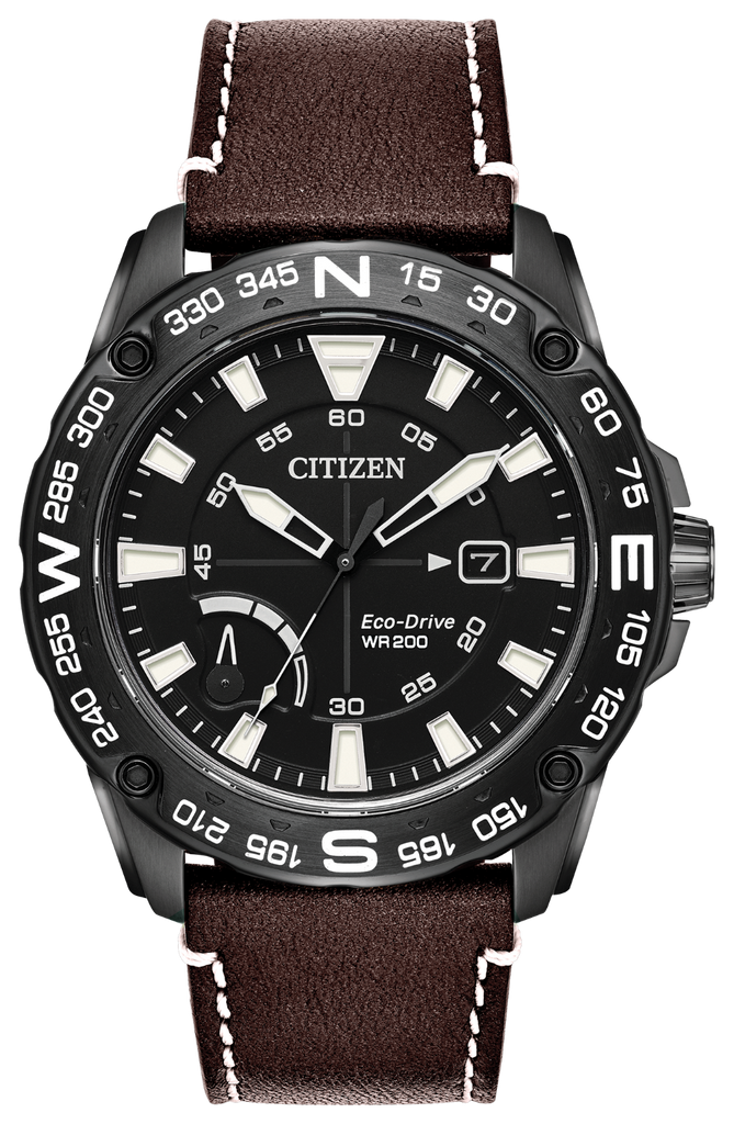 Citizen AW7045-09E Eco-Drive PRT Leather Strap Watch