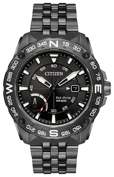 Citizen AW7047-54H Eco-Drive PRT Black IP Stainless Watch