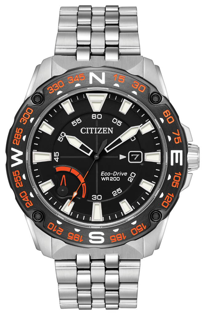 Citizen AW7048-51E Eco-Drive PRT Stainless Steel Watch