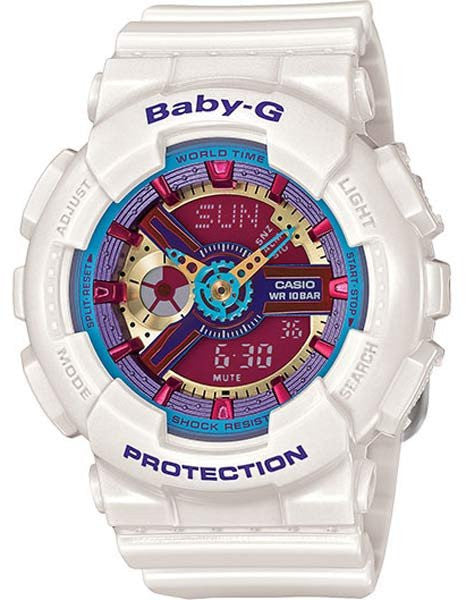 Casio Gshock BA112-7A Ladies White Resin Analog Digital Watch