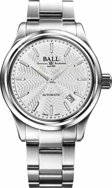 BALL NM1060D-S5-SL Trainmaster Streamliner Stainless Steel Silver Dial 39mm Automatic Watch